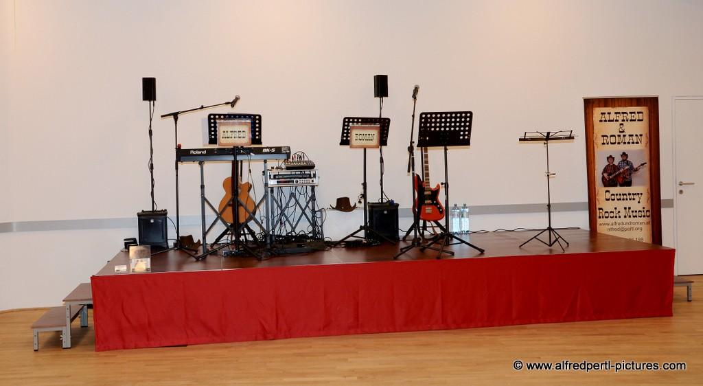 Bühne im Ägydiussaal in Korneuburg