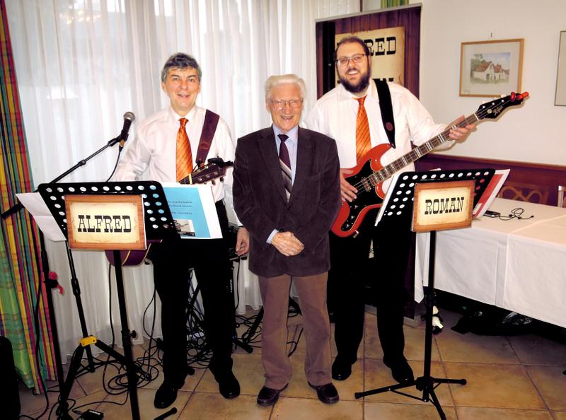 ALFRED und ROMAN - 85. Geburtstag von Geri Korostensky im Gasthaus Scheiterer in Enzersfeld