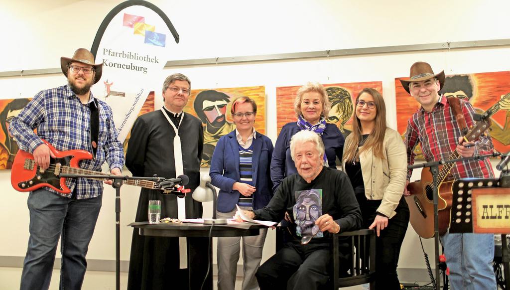 ALFRED und ROMAN bei der Lesung und Vernissage von Walter Baca im Korneuburger Ägydius Saal