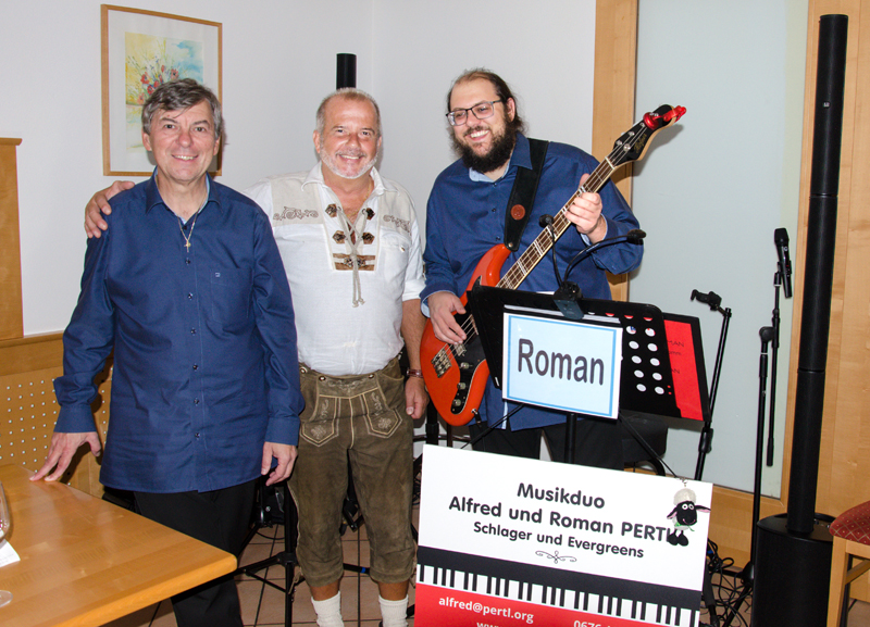 ALFRED und ROMAN mit ÖKB-Korneuburg Obmann Wolfgang Schaffer